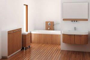 Meubles en bois pour salles de bain par un menuisier à Namur
